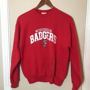 [Wisconsin Badgers] Hanes Red Crewneck